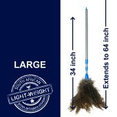 Light-weight 34 - 34 inch plastic handled extendable duster